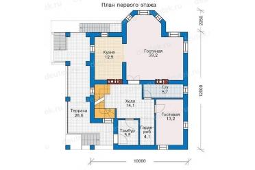 проекты домов 12 на 12 двухэтажный с чертежами сочетание
