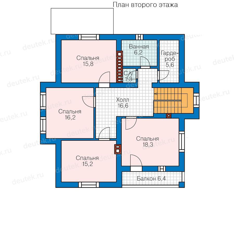 Проект двухэтажного дома для постоянного проживания с котель.