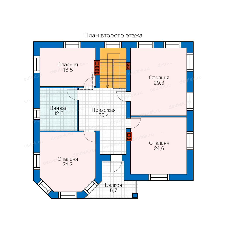 проект коттеджа с 4 спальнями на втором этаже одноэтажных домов стоимость