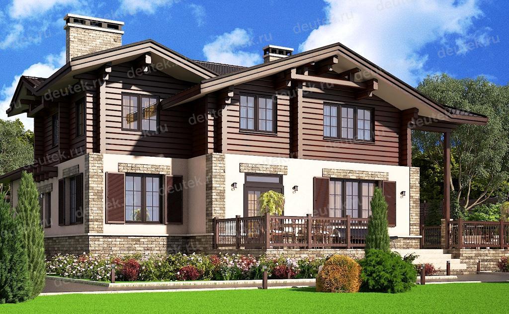 готовые проекты комбинированных домов