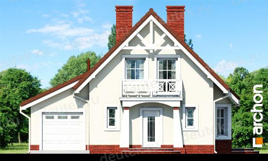 Dt0621 - проект загородного дома с гаражом, террасой и балко.